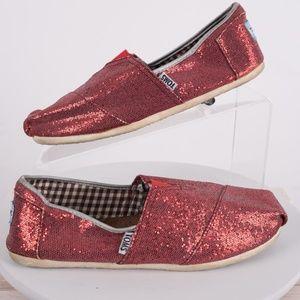 7cb797b3943 Toms. TOMS Women s Flats Red Glitter ...